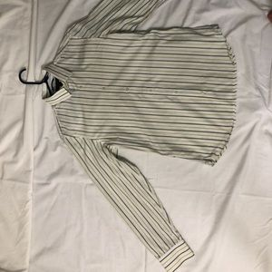 White and Yellow Striped Button Down